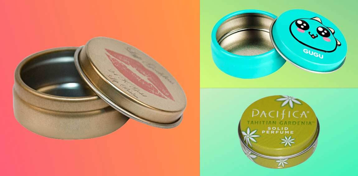 small tin container for lip blam