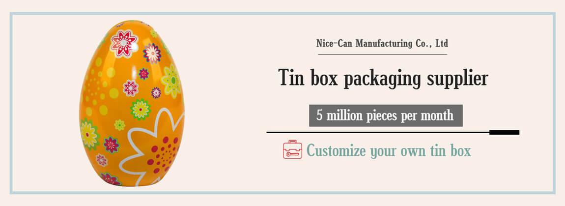 easter egg tin box