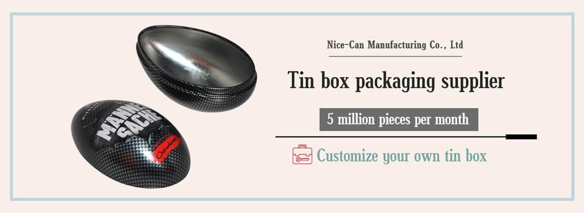 Metal Easter egg tin box