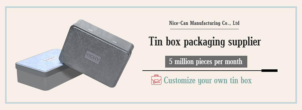 rectangular tin box with hinged lid candy